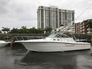 2001 Rampage 38 Express with Tower